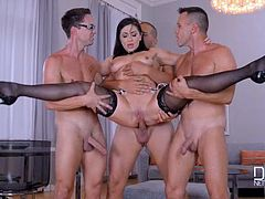 Lea Lexis -  Deepthroating Dinner Party   Group Sex Smorgasbord