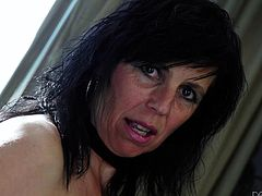 When sexy Rita feels horny, she's eager to expose her naughty pussy in front of the friendly camera. Slutty Leylani looks also very attractive, as she lifts her dress, to show her kinky stockings and lusty cunt. See these brunette busty bitches masturbating!