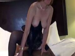 Black cock-loving amateur MILF IR assfucked