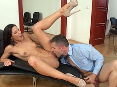 Visit official Pix And Video's HomepageTime for perky tits, Alexa Tomas, to spread legs for her boss and enjoy his strong dong deep down her precious shaved vagina
