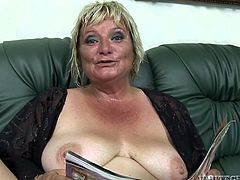 Zuzana was reading a porn magazine, when her partner came to sit next her on the couch. Click to watch the horny madam sucking his cock with fervor. She's got saggy tits and a hairy appetizing cunt. Don't miss the inciting scenes!