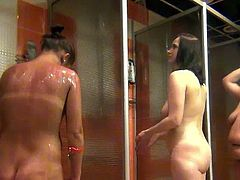 totally naked women caught on hidden cam taking shower