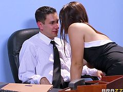 Slutty Valentina and horny Abbey are eager to play dirty with their boss. They came to his office, acting in a provocative way, which would make any man horny. Click to see the naughty ladies undressing and showing their pussies to the camera. Watch them fingering and moaning of pleasure.
