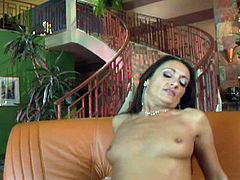 Michelle is enjoying every hard and deep stroke, she is getting with her legs spread. Horny guy fucks the hell out of this sexy milf with immense joy. See how she is screaming and moaning with pleasure, as she is getting nailed in sideways and from behind as well, as in cowgirl. Let's see, if she gets a facial!