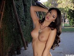 Stunning Latina babe Anita Serena gets out her perfect tits