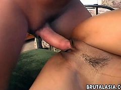 Sexy Asian babe Lyla Lei gets pussy creampie in dirty porn video
