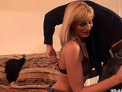 You've heard that saying about gas, grass, or ass, nobody rides for free. Well, Darryl has no problem giving up some ass to a guy, kind enough to give her a ride. They go back to his place and, almost immediately, the clothes come off and she's on her knees, sucking his cock. She gets her hole licked too.