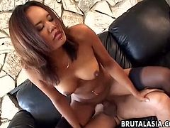 Naughty babe Annie Cruz screwed bad in a missionary position