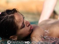 FantasyHD - Under water BJ and fuck with Sara Luv