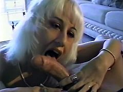Cute and hot blonde lady on the audition gives head