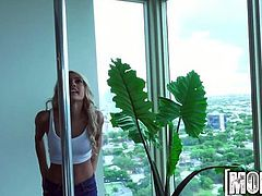 Mofos - Janice Griffith loves her new pole
