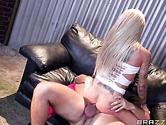 With juicy boobs is in the mood for fucking and gives it to hard cocked bang buddy Keiran Lee