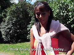 Ebony milf babe with a killer body is getting paid for some sex. She refuses to do it in the outdoor, but as soon as they enter his apartment, the fun starts