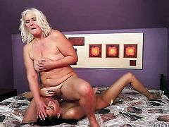 Blonde with big knockers spends her sexual energy with lesbian Lyen Parker