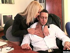 Kathia Nobili brings taking dictation to a whole new level in this workplace anal sex session from DDF Productions Secret Diary Of A Secretary, sucking her bosses cock before he fucks her pussy and fucks her in the ass.