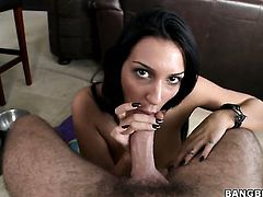 Amber Cox with juicy ass and hot bang buddy are so fucking horny in this dick sucking action