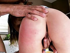 Redhead Maddy Oreilly cant live a day without taking sturdy sausage in her mouth