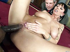 Alia Janine asks Sean Michaels to shove his rock hard pole in her mouth