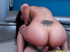 Mature Coco Valentina with bubbly butt is in heaven eating dudes beefy sausage