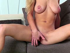 Lolly is ready to take off her clothes and show her shaved appetizing cunt! But that's no all she has to offer. Allow her to entertain you with the inciting sight of her mesmerizing big tits and crazy ass. See this blonde pussy cat masturbating in front of the camera and enjoy...