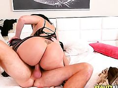 Mature sexy porn girl Destiny with round ass and hairless muff looks for a chance to swallow Levi Cash hot fresh sperm after cock sucking