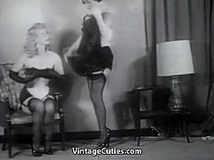 Two Villains one Damsel in Fetish Distress (1950s Vintage)