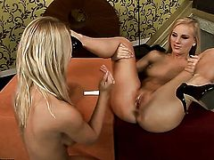 Blonde Nikky Thorne knows no limits when it comes to eating Barbie Whites pussy hole