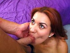 Devina A Spicy latin Gives Slow mouth-fuck inside Dirty Point of view movie