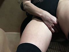 Kimberly Gates spends her sexual energy alone with the help of her fingers