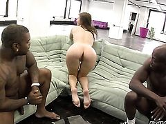Wesley Pipes stuffs his love stick in smoking hot Ashli Orions booty after she gets her mouth fucked