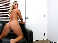 Cameron Dee satisfies mans sexual desires and then gets cum sprayed