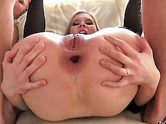 Omar Galanti bangs Pretty porn girl Jessy Brown as hard as possible in anal action after oral job