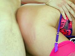 sexy layla entertains two guys