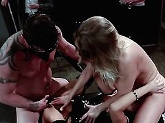 Bondage with two horny bitches