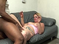 Cheating fat mom having a sexy time with a black dude's monster cock