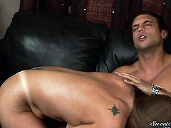 Rocco Reed gets his always hard cock eaten by Darla Crane