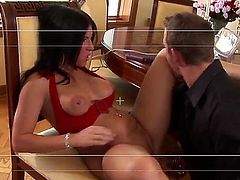 Kendra Secrets is a cougar that is getting some pussy licking done. She is also tit fucked in this amazing scene. Her lovers tongue is doing wonders to her pussy.