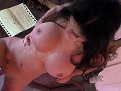 Kendall's naked body looks so damn hot! It's no wonder her horny partner can't help fucking her, first thing when waking up in the morning... See the busty brunette pounded hard from behind and sideways.