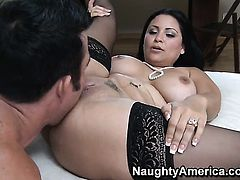 Billy Glide loves always wet warm love hole of Senorita Sophia Lomeli with big tits