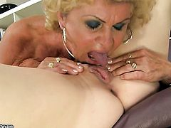 Blonde wench with gigantic knockers and Effies are ready to spend hours stimusexy each others eager bush non-stop