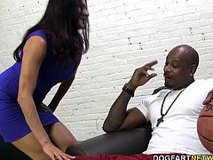 Alana surprises her filthy mother by walking in on her sucking on a cock that in no way, shape or form resembles the skin tone of her father's. Sheila and Alana take turns sucking on that monstrosity before their fuck holes are treated to a black cock experience.