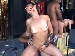 extreme hot double penetration at the brazilian carneval party orgy