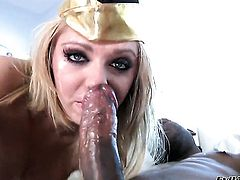 Jaelyn Fox feels intense sexual desire while getting her face covered in cum