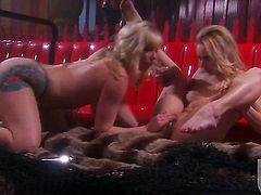 Adrianna Nicole and Kelly Wells and enjoy lesbian sex too much to stop