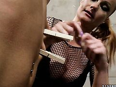 Blonde Katy Parker with big knockers gets her muff pie eaten by Lillandra in lesbian action for your viewing pleasure