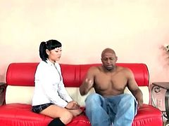 Sweet Asian Yuki Mori impaled on a massive black dick