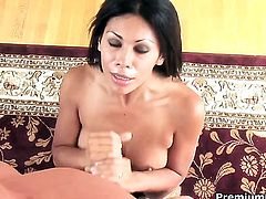 Unthinkably sexy sweetie Cassandra Cruz squeezes the juice out of dick with her skilled hands
