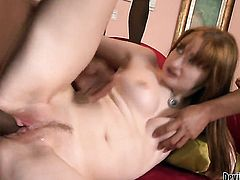 Violet Monroe does dirty things with hot guy in interracial sex action