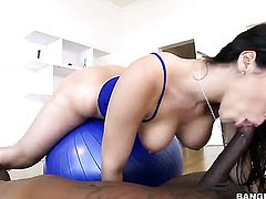 Valentina Nappi is having interracial sex