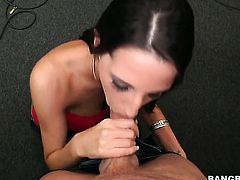 Kortney Kane is licking a dick